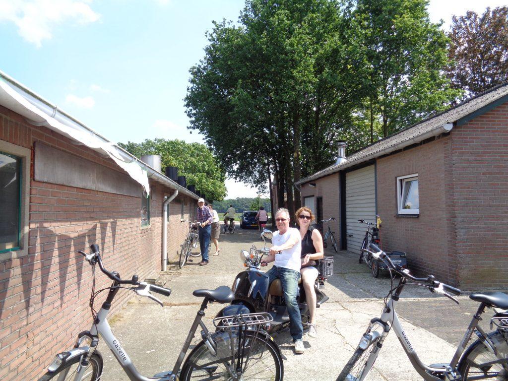 veel belangstelling van fietsers