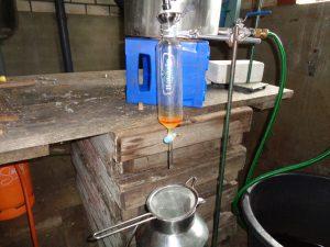 begin van de destillatie